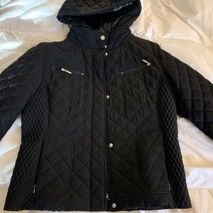 Calvin Klein Medium Hooded, Quilted Jacket